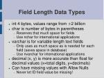 field length data types