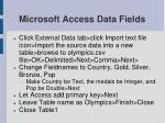 microsoft access data fields