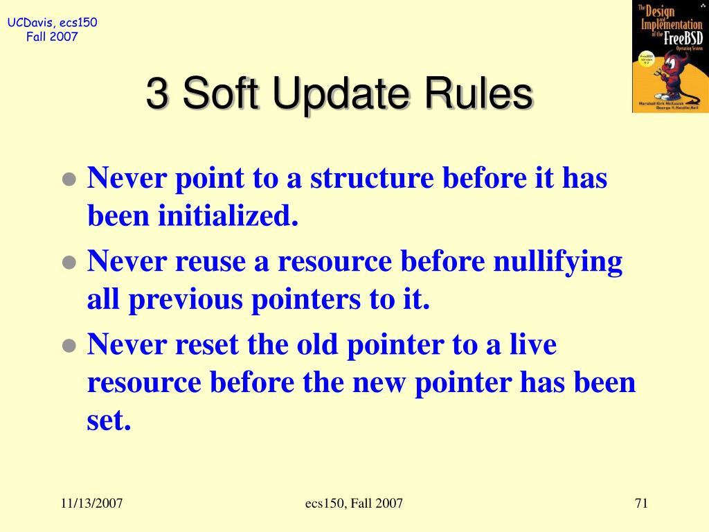 3 Soft Update Rules