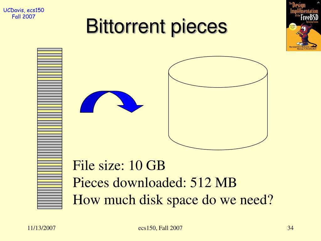 Bittorrent pieces