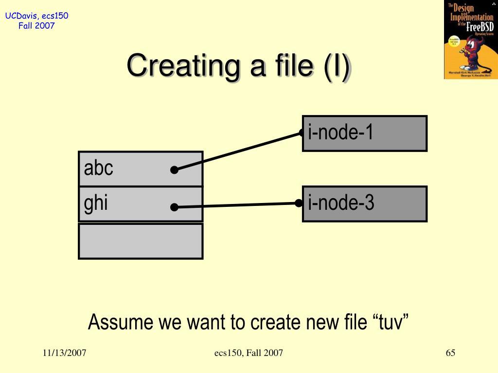 Creating a file (I)