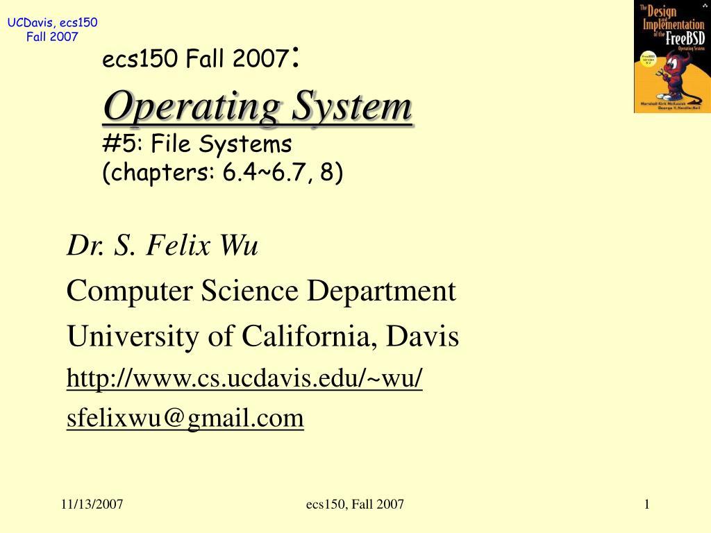 ecs150 Fall 2007
