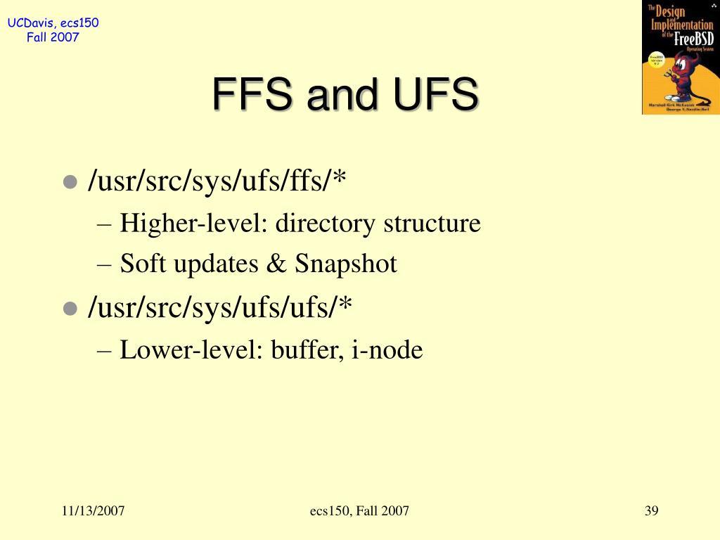 FFS and UFS