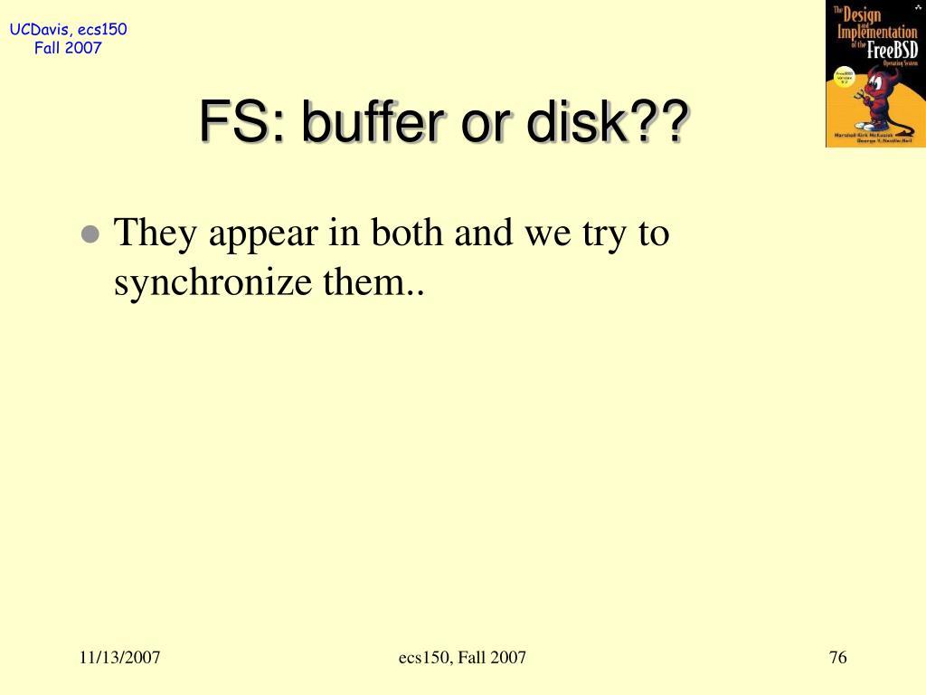 FS: buffer or disk??