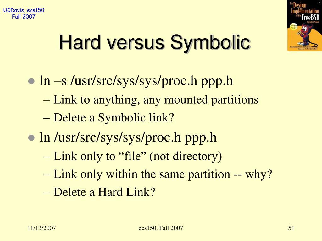 Hard versus Symbolic
