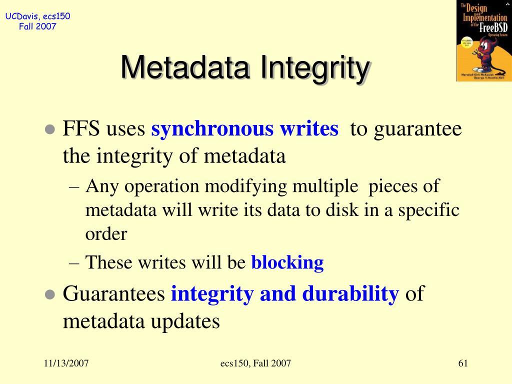 Metadata Integrity
