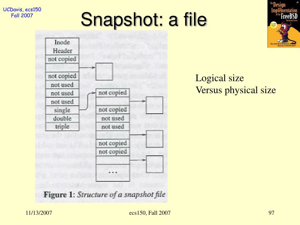 Snapshot: a file