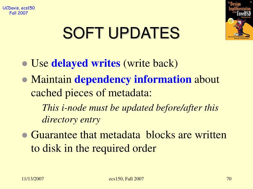 SOFT UPDATES