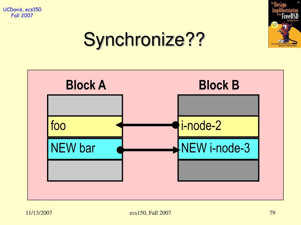 Synchronize??