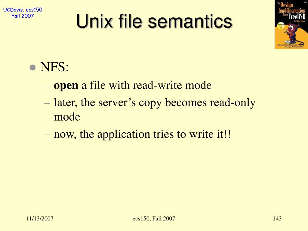 Unix file semantics