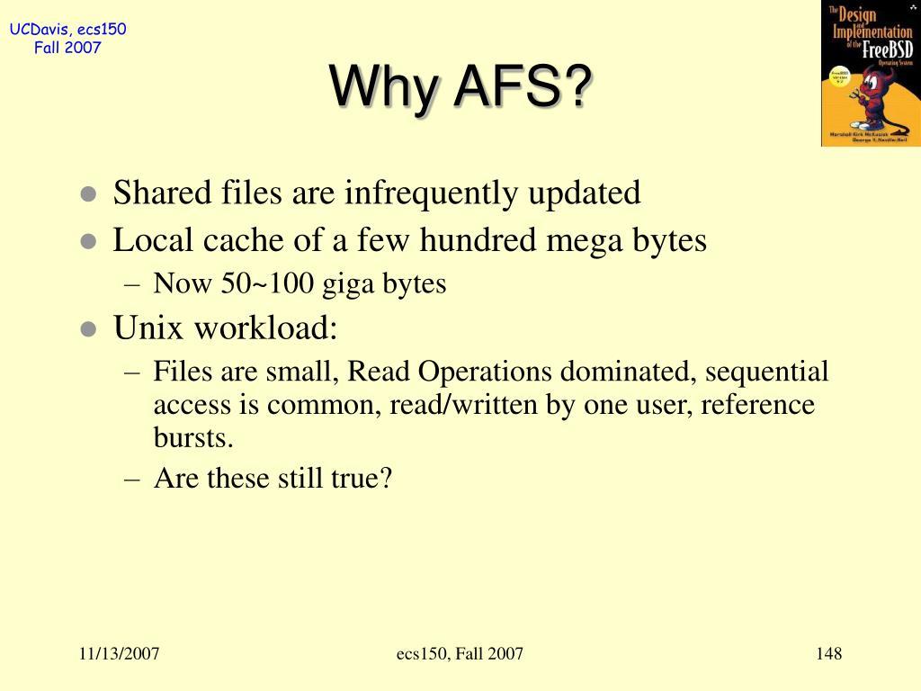 Why AFS?