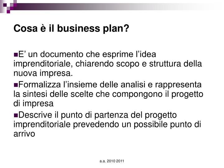 Cosa è il business plan?