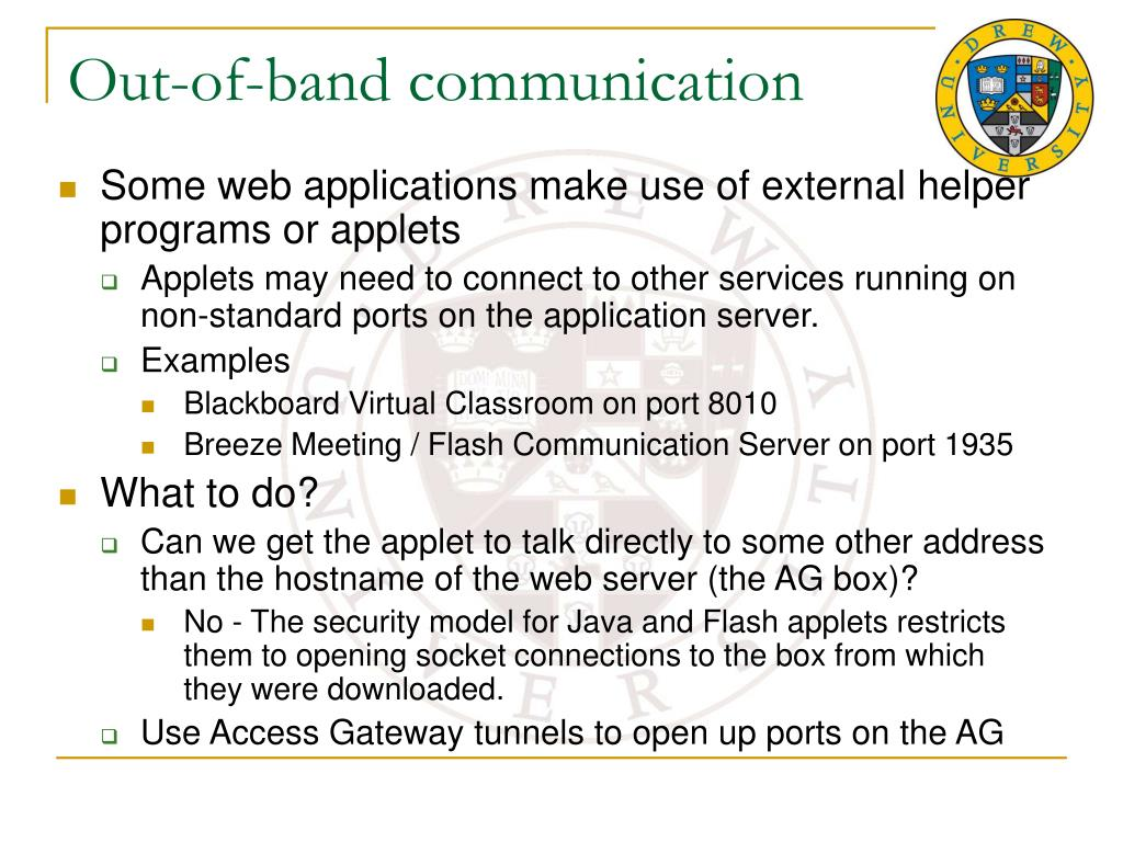 Out-of-band communication