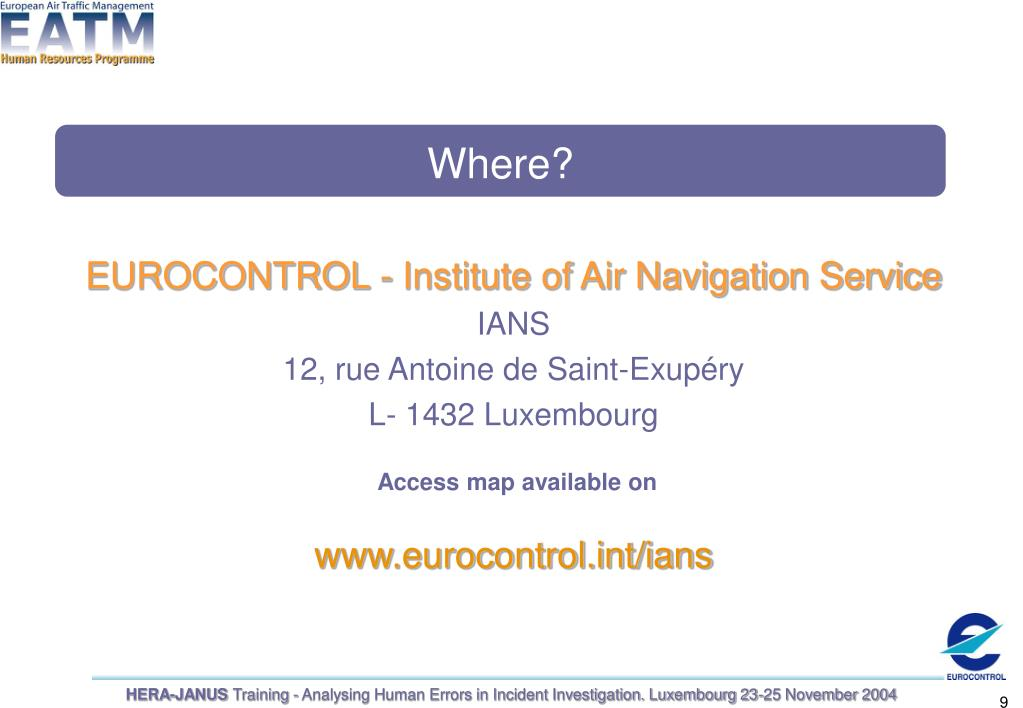 EUROCONTROL - Institute of Air Navigation Service