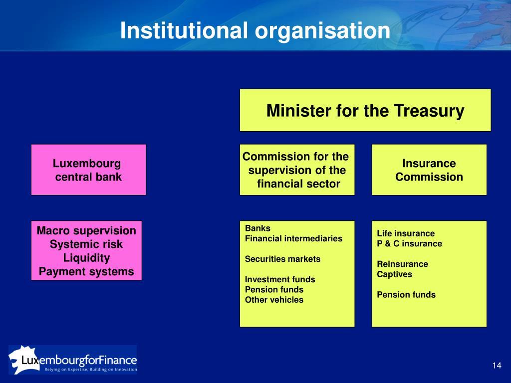 Institutional organisation