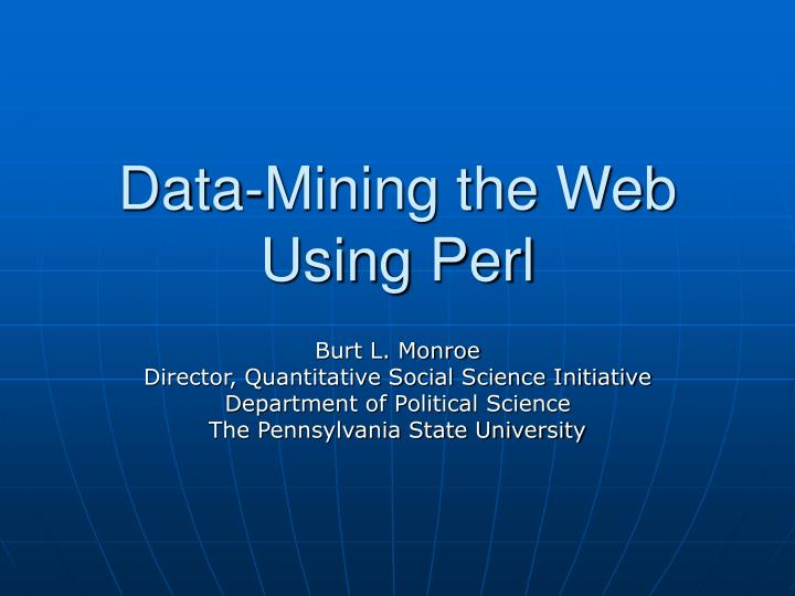 Data mining the web using perl l.jpg