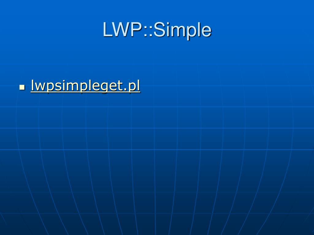 LWP::Simple