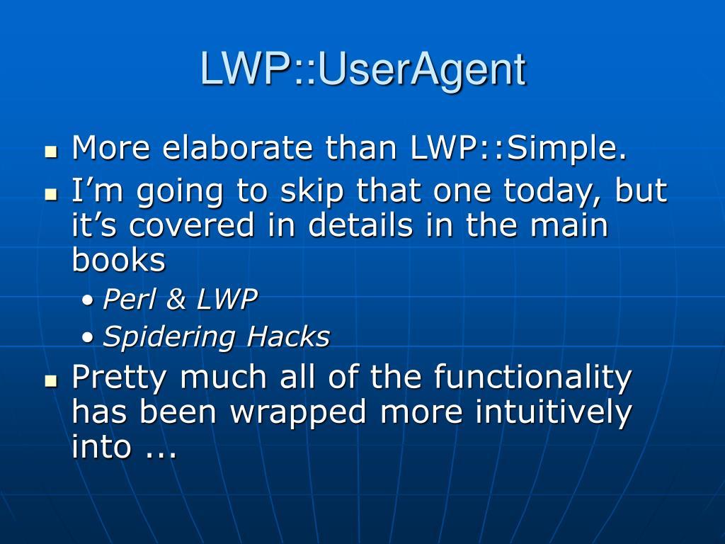LWP::UserAgent