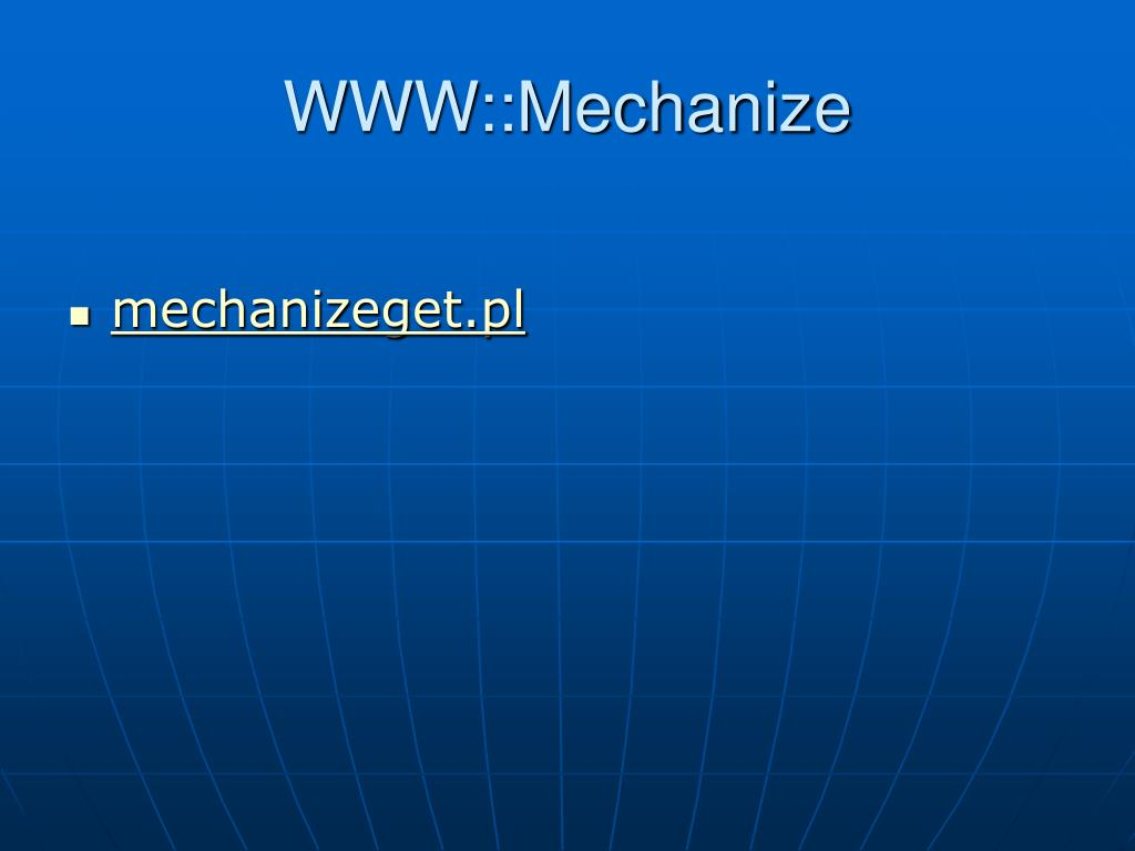 WWW::Mechanize