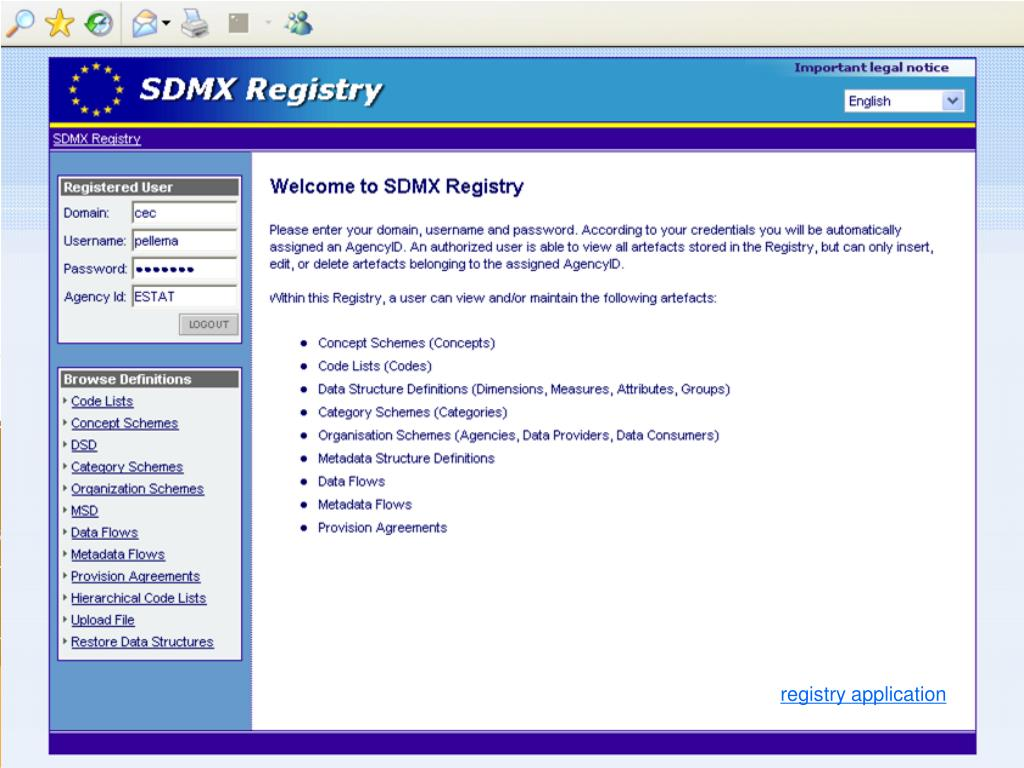registry application