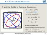 r and the outliers example covariance