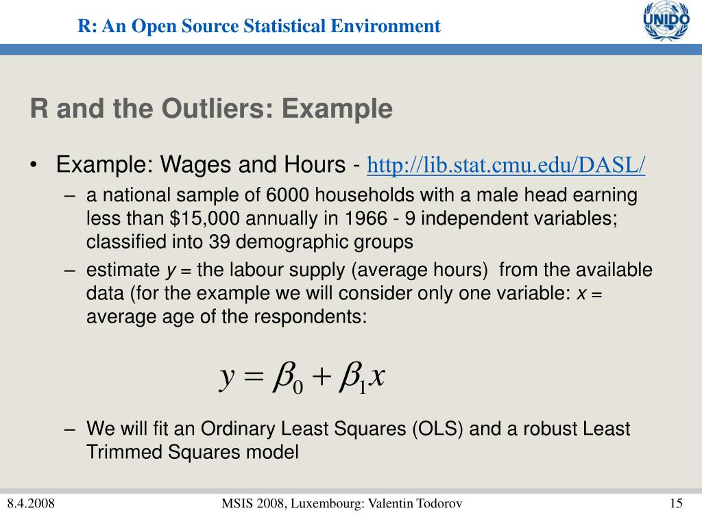 R and the Outliers: Example
