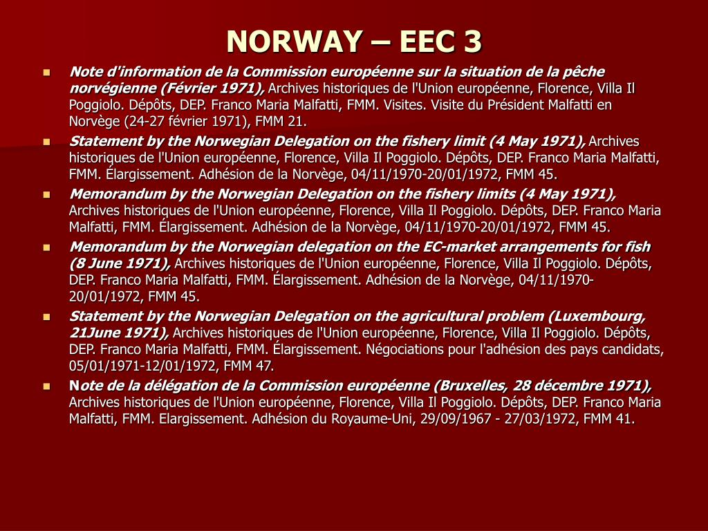 NORWAY – EEC 3