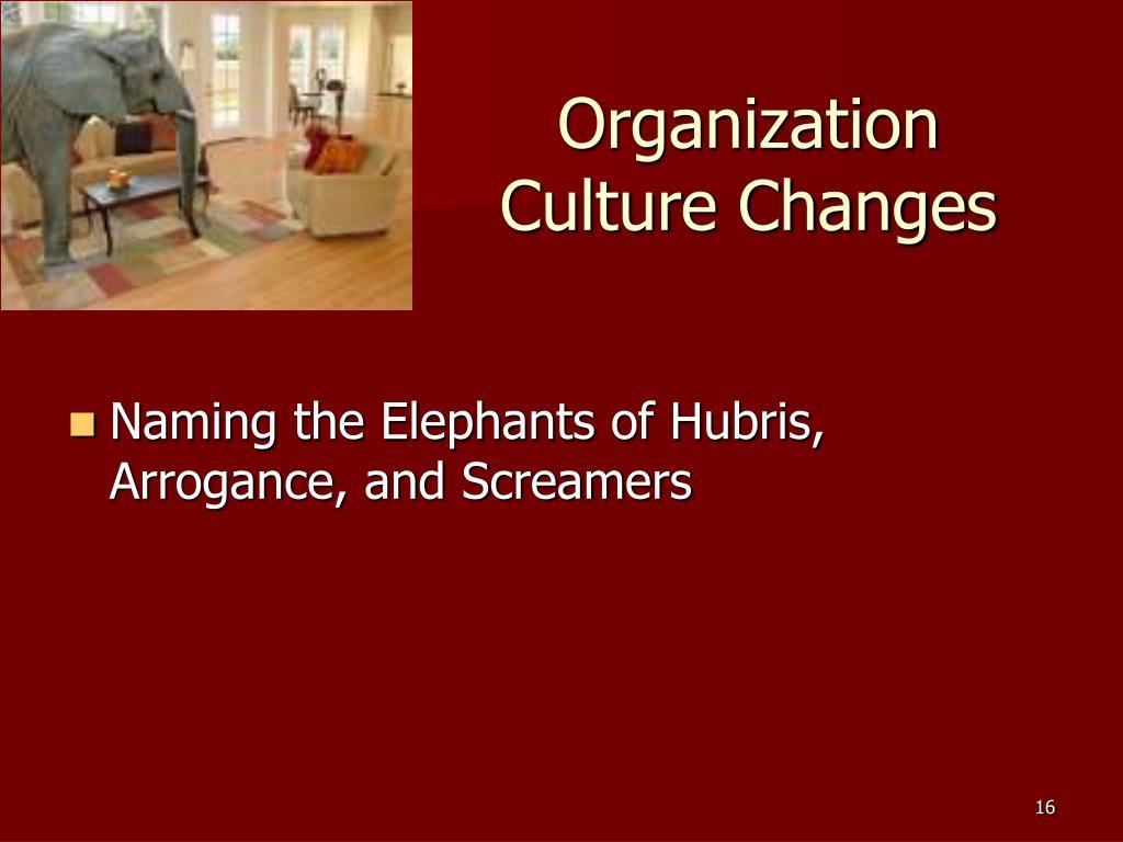 Organization Culture Changes