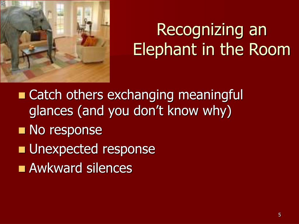Recognizing an Elephant in the Room