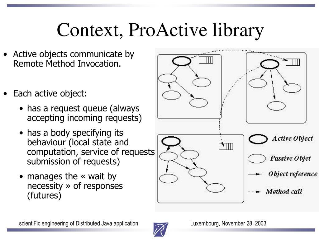 Context, ProActive library