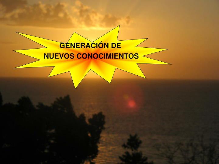 GENERACIÓN DE