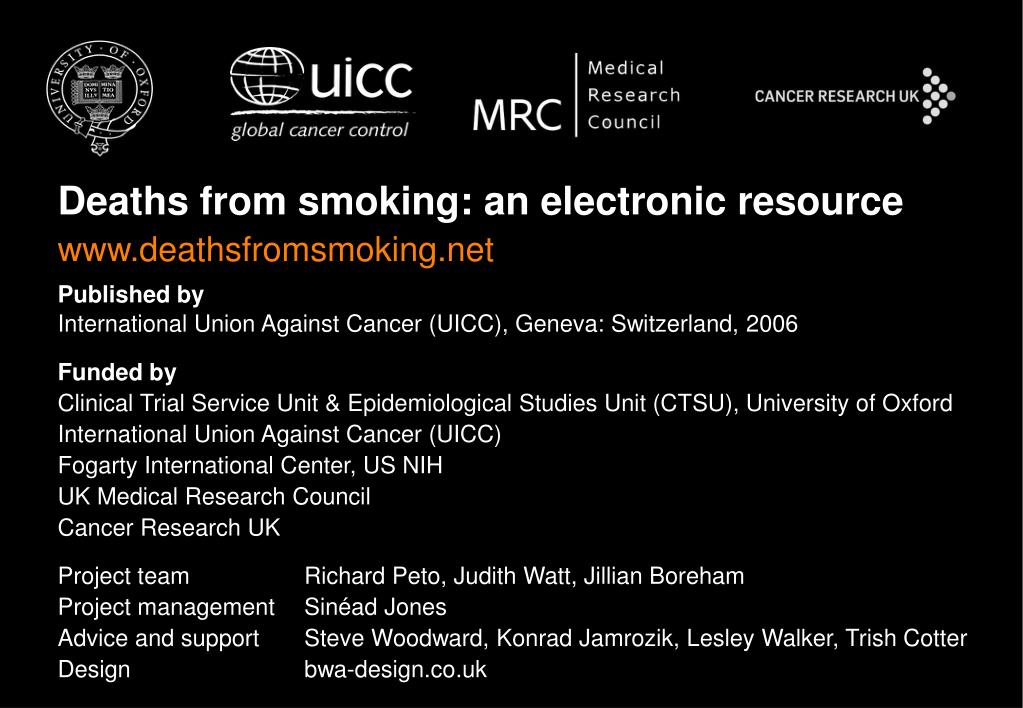 Deaths from smoking: