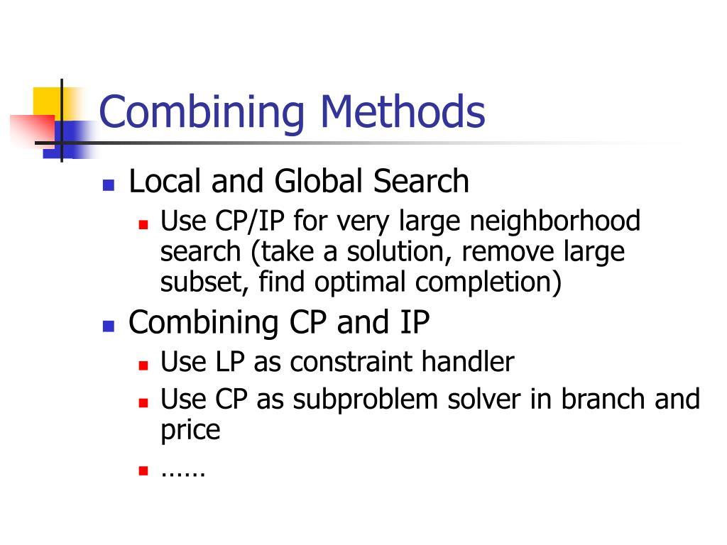 Combining Methods