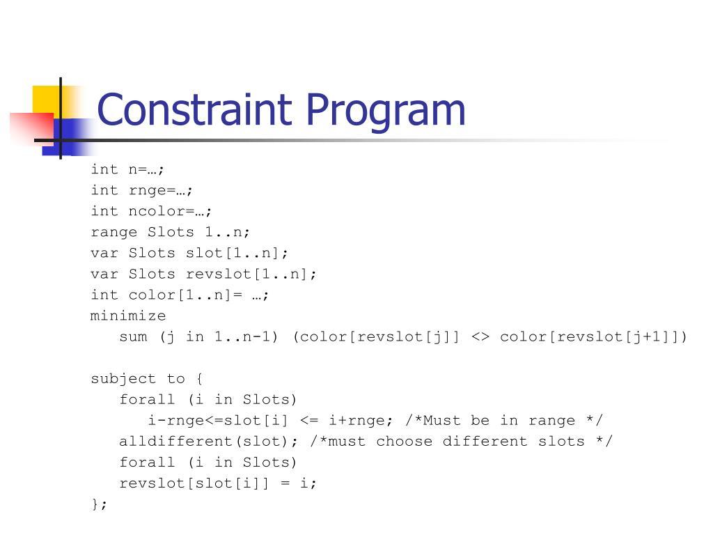 Constraint Program