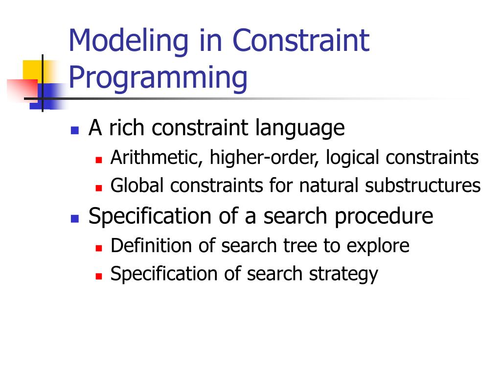 Modeling in Constraint Programming