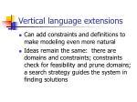 vertical language extensions