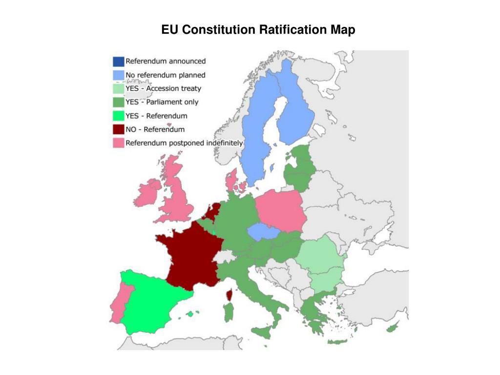 EU Constitution Ratification Map