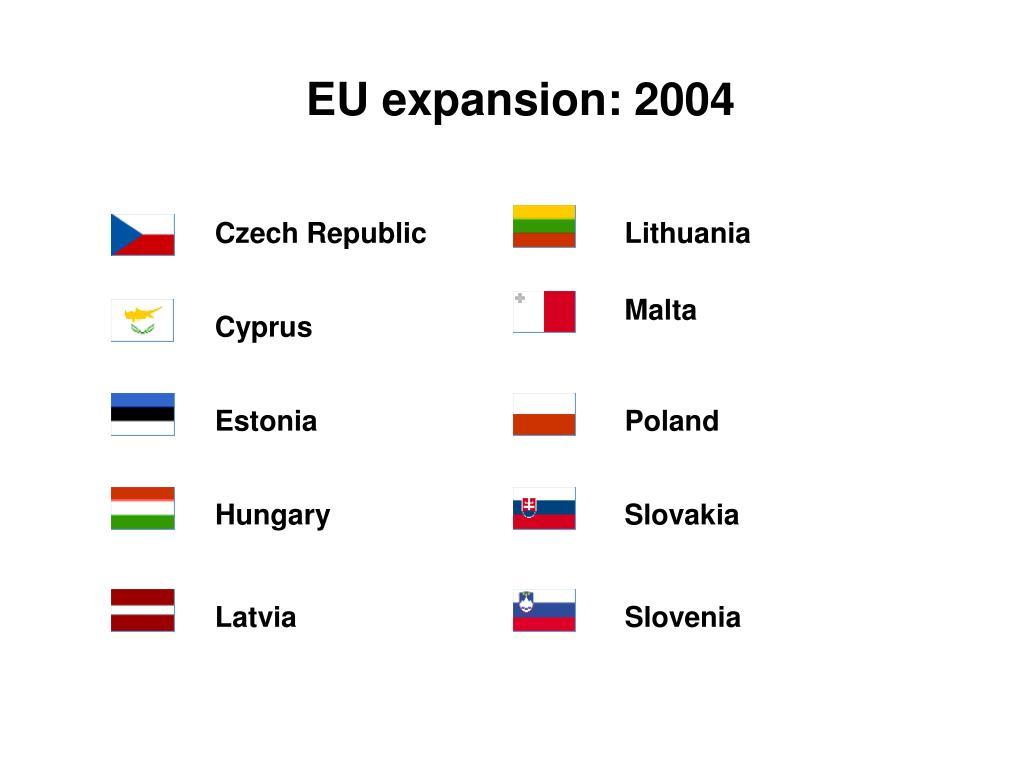 EU expansion: 2004