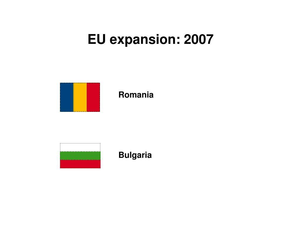 EU expansion: 2007