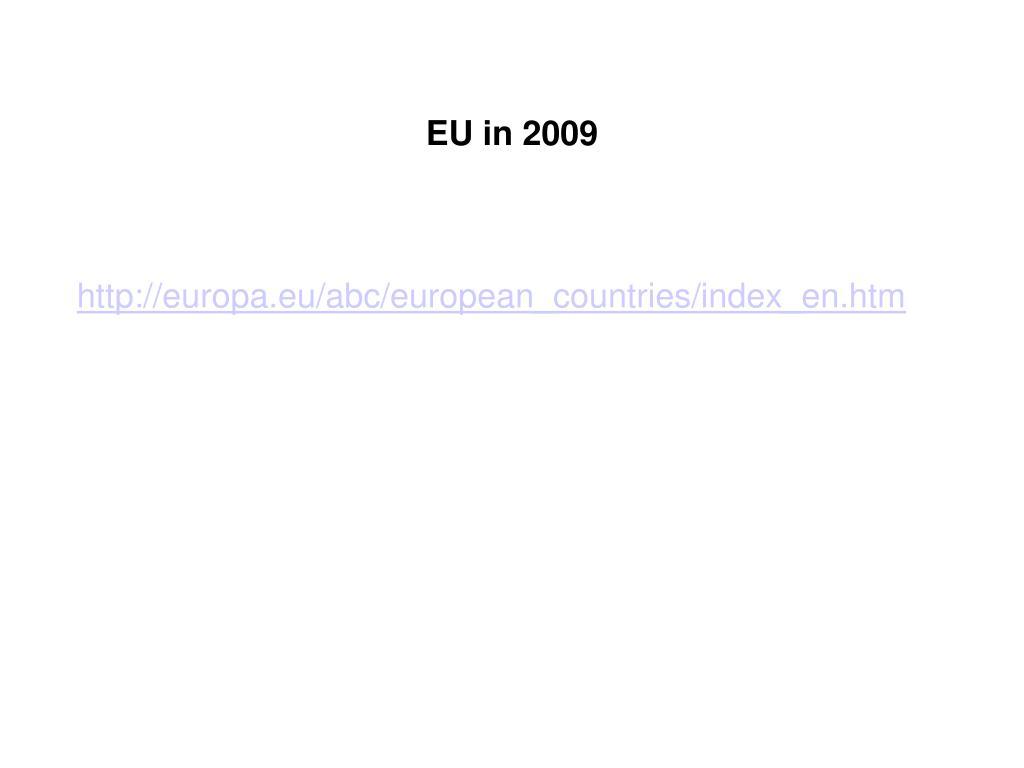 EU in 2009