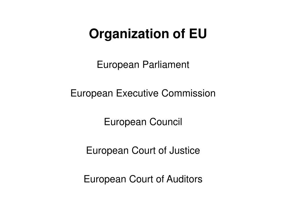 Organization of EU