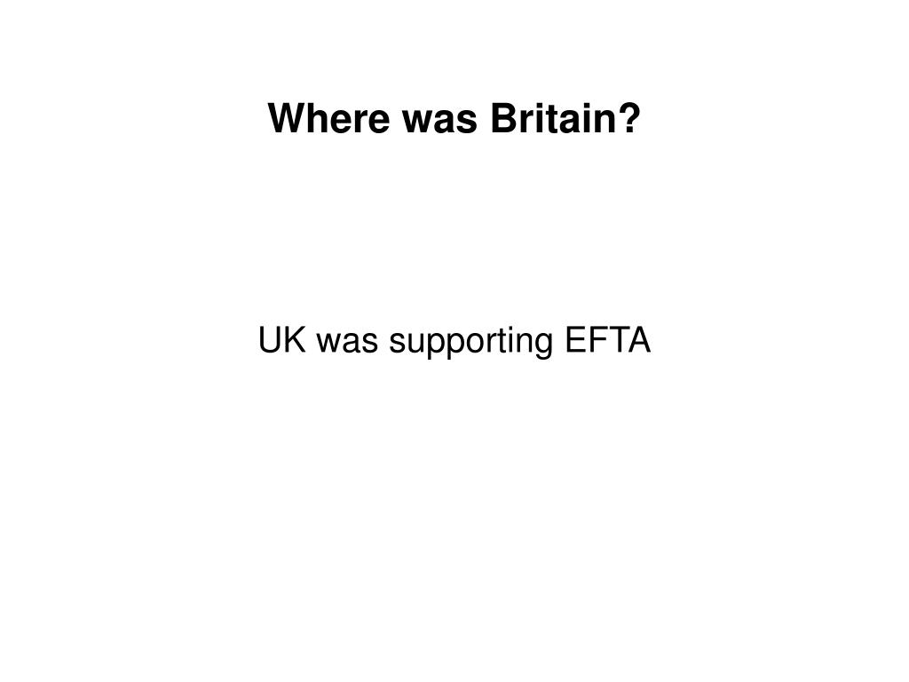 Where was Britain?
