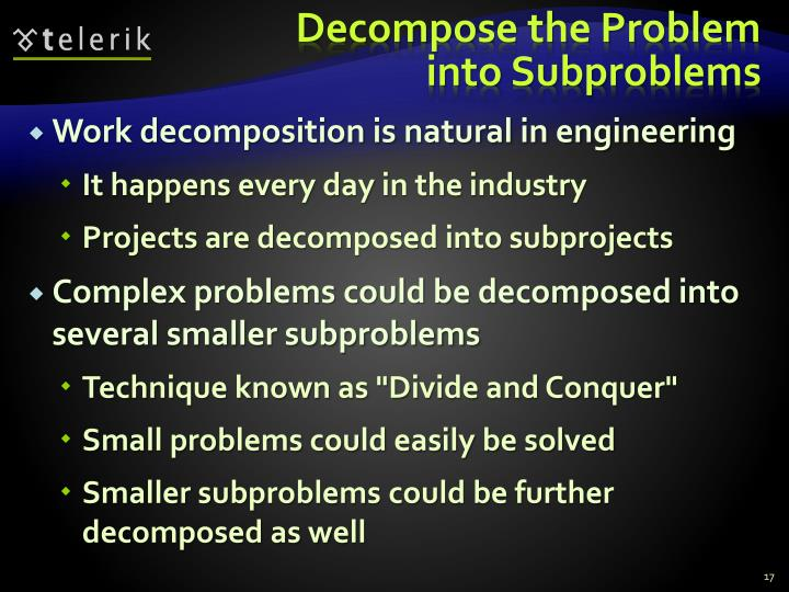Decompose the Problem