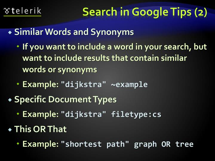 Search in Google Tips (2)
