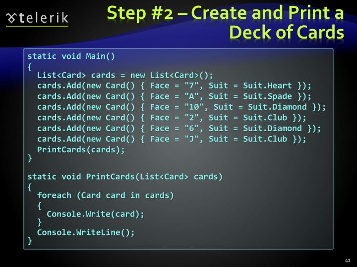 Step #2 – Create and Print a Deck of Cards
