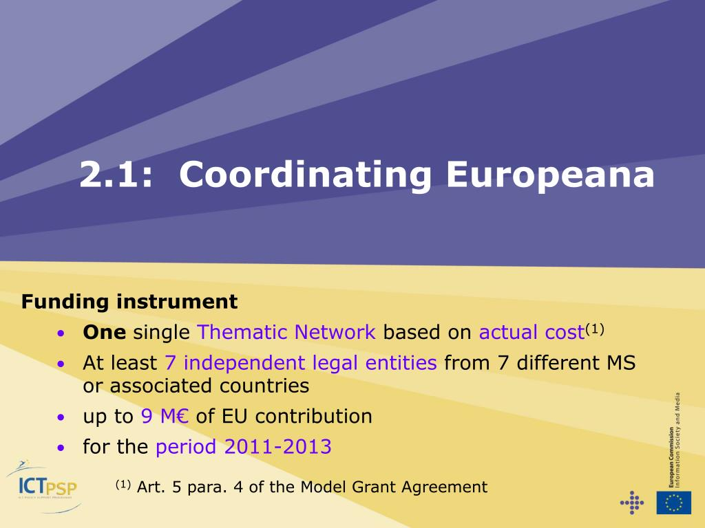 2.1:  Coordinating Europeana