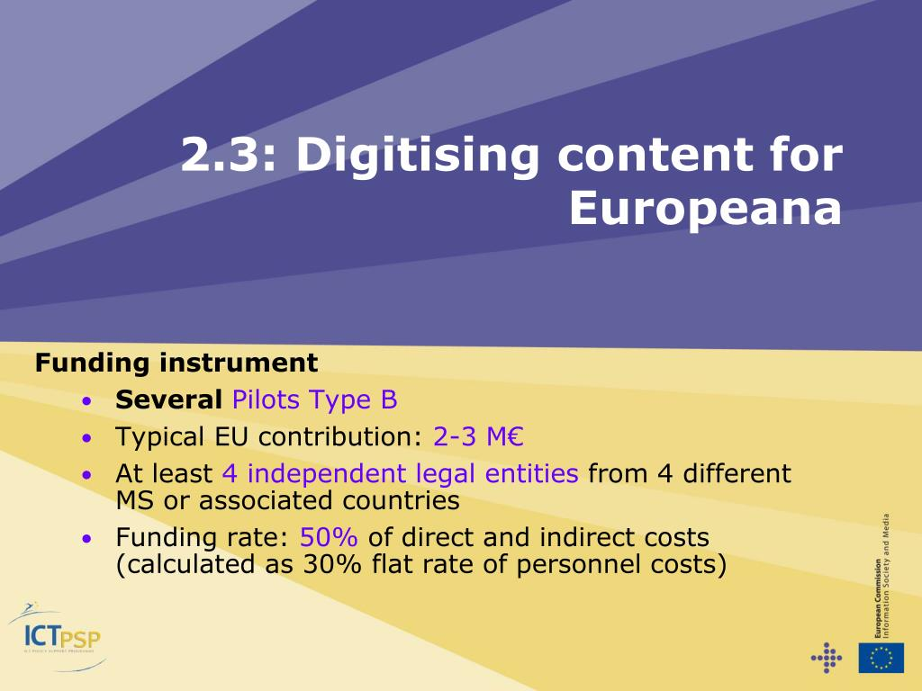 2.3: Digitising content for Europeana