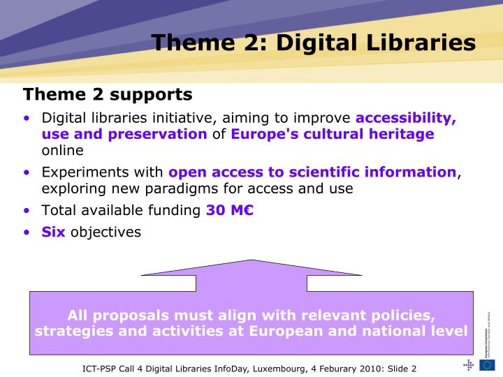 Theme 2 digital libraries