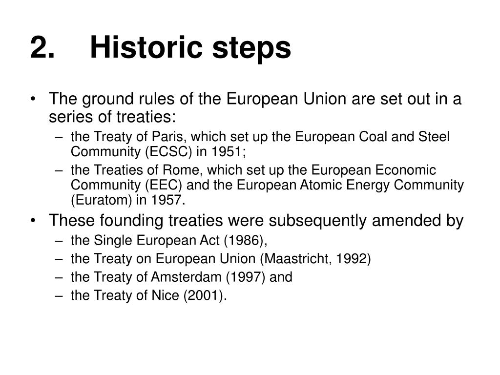 2.    Historic steps