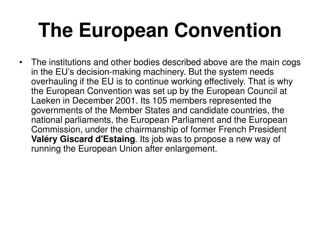 The European Convention